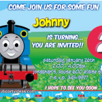 Thomas & Friends birthday invitations free