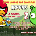 Angry Birds birthday invitations free