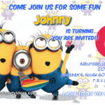 Despicable Me 2 birthday invitations free