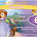 Princess Sofia birthday invitations free