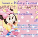 Disney baby minnie mouse birthday free invitations