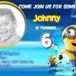 Despicable Me Birthday Invitations with photo Free Printable
