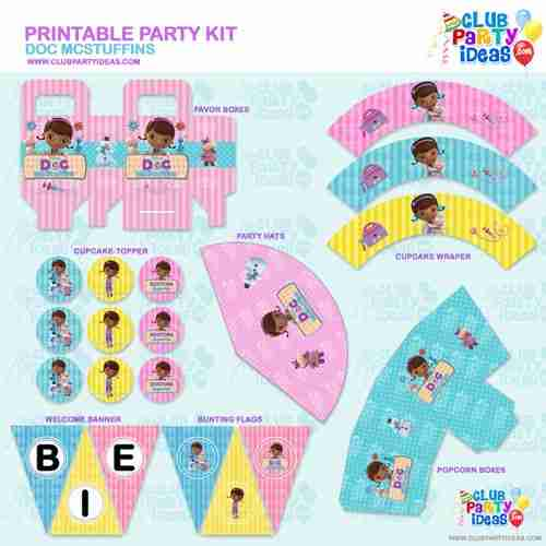 It is a picture of Gratifying Doc Mcstuffins Party Printables