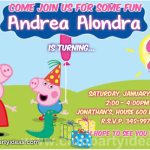 Peppa Pig invitations celebrating his birthday