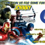 The Avengers birthday invitations free custom