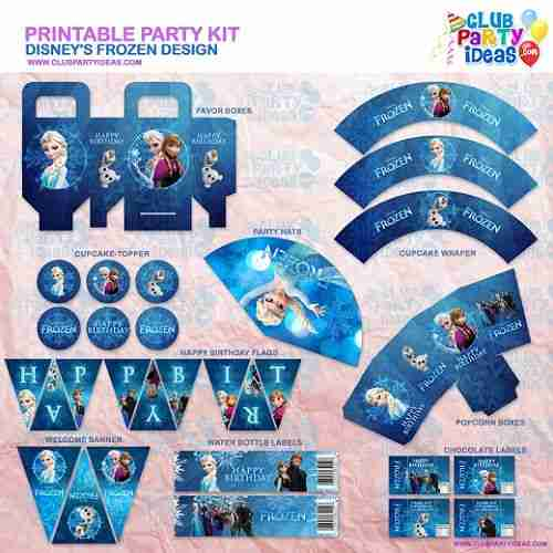 Frozen disney printable party kit