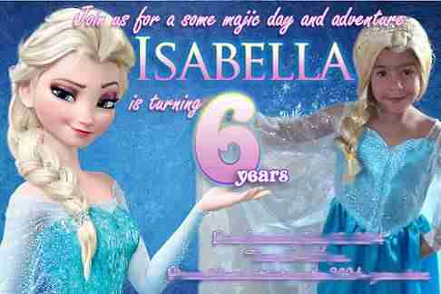 Frozen personalized invitations with photo